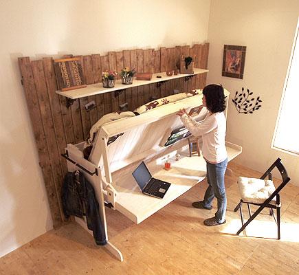 大人の収納机とベッド|Renofurniture(リノファニチャー)|壁面収納