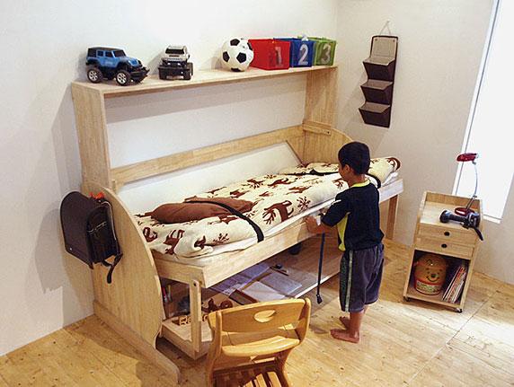 収納ベッド、壁面収納のベッドは|Renofurniture(リノファニチャー)|